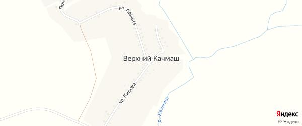 Садовая улица на карте деревни Верхнего Качмаша с номерами домов