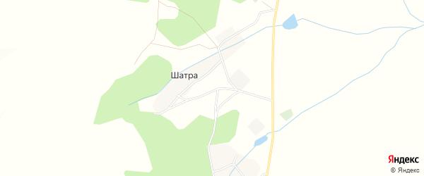 Карта деревни Шатры в Башкортостане с улицами и номерами домов