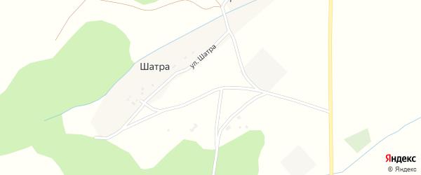 Улица Шатра на карте деревни Шатры с номерами домов