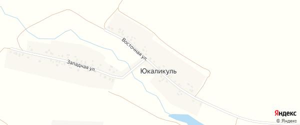 Восточная улица на карте деревни Юкаликуля с номерами домов
