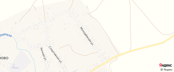 Молодежная улица на карте села Никифарово с номерами домов