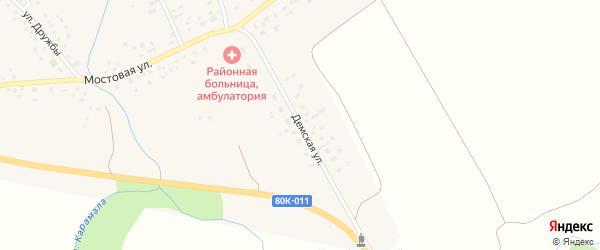 Демская улица на карте села Никифарово с номерами домов