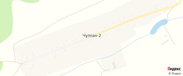 Центральная улица на карте деревни Чулпана 2-й с номерами домов