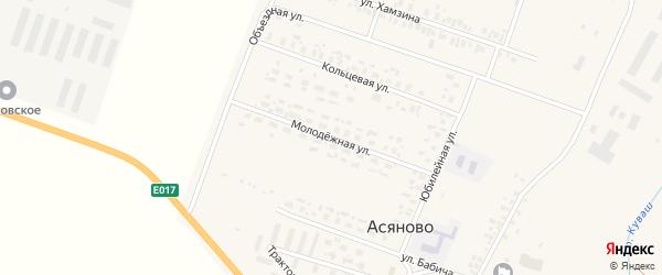 Молодежная улица на карте села Асяново с номерами домов