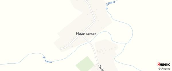 Улица А.Зиннатова на карте деревни Назитамака с номерами домов