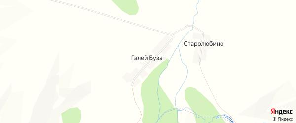 Карта деревни Галея-Бузата в Башкортостане с улицами и номерами домов