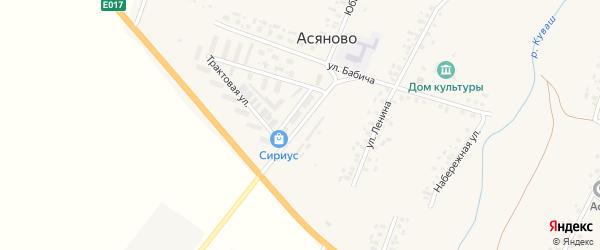 Заводская улица на карте села Асяново с номерами домов