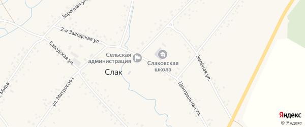 Центральная улица на карте села Слака с номерами домов