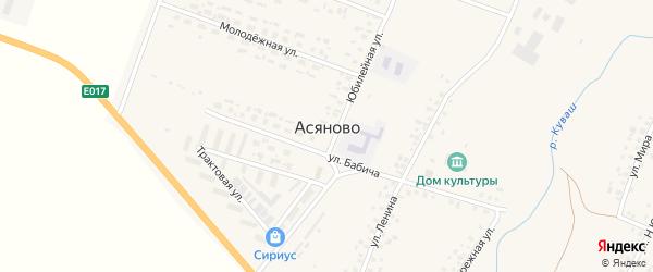 Улица Р.Хамзина на карте села Асяново с номерами домов