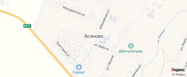 Улица Мира на карте села Асяново с номерами домов