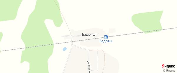 Карта деревни Разъезды Бадряш в Башкортостане с улицами и номерами домов