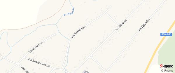 Улица Ахметова на карте села Слака с номерами домов