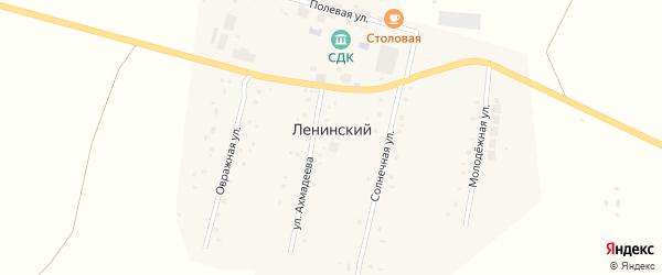 Московская улица на карте села Ленинского с номерами домов