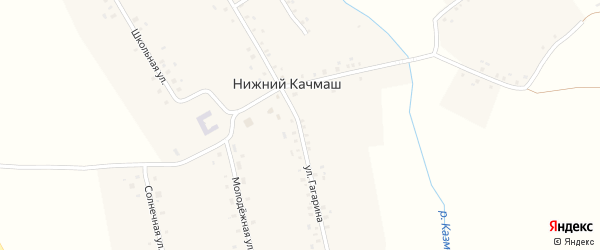Улица Гагарина на карте деревни Нижнего Качмаша с номерами домов