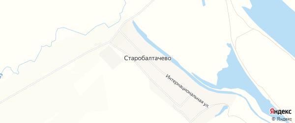 Карта деревни Старобалтачево в Башкортостане с улицами и номерами домов
