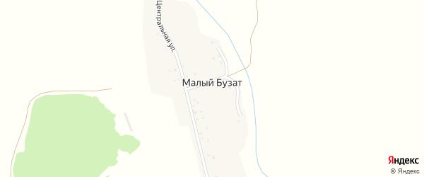 Центральная улица на карте деревни Малого Бузата с номерами домов