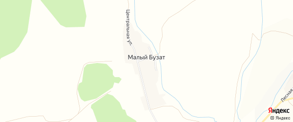 Карта деревни Малого Бузата в Башкортостане с улицами и номерами домов