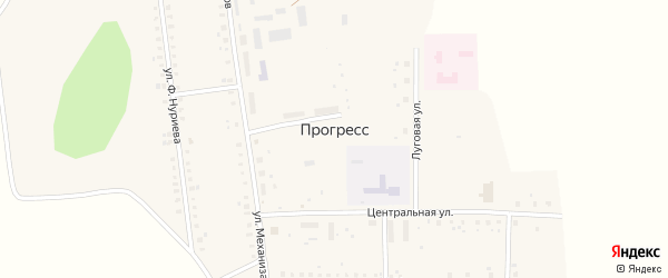 Южная улица на карте села Прогресса с номерами домов