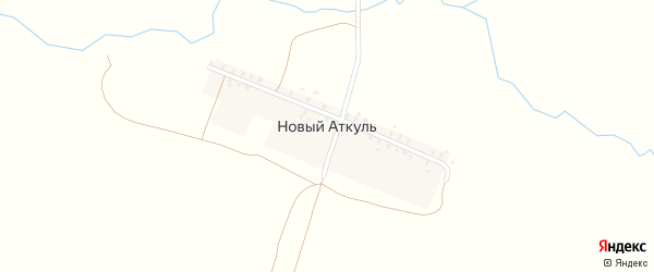 Улица 8 Марта на карте деревни Нового Аткуля с номерами домов