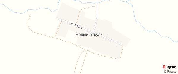 1 Мая улица на карте деревни Нового Аткуля с номерами домов