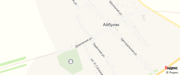 Заречная улица на карте села Айбуляка с номерами домов