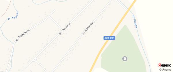Улица Дружбы на карте села Слака с номерами домов