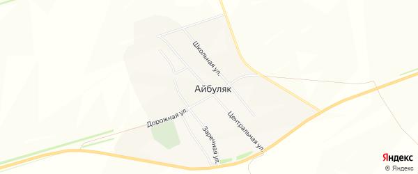Карта села Айбуляка в Башкортостане с улицами и номерами домов