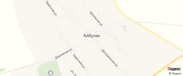 Улица Н.Саляхова на карте села Айбуляка с номерами домов