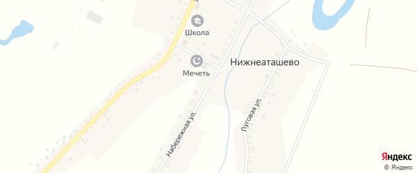 Набережная улица на карте села Нижнеаташево с номерами домов