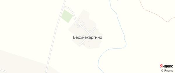 Красноармейская улица на карте деревни Верхнекаргино с номерами домов