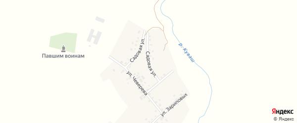 Садовая улица на карте села Нижнекаргино с номерами домов