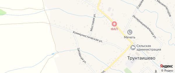 Коммунистическая улица на карте села Трунтаишево с номерами домов