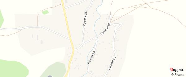 Речная улица на карте села Сатыево с номерами домов