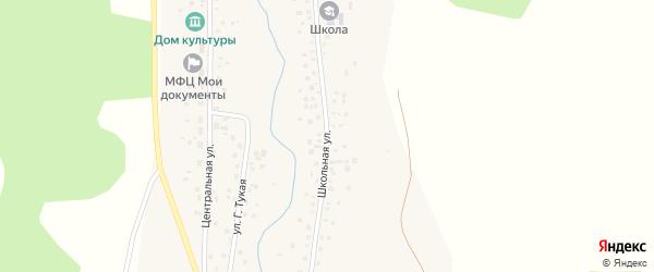 Школьная улица на карте села Сатыево с номерами домов