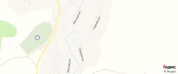 Горная улица на карте села Сатыево с номерами домов