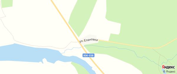 Карта деревни Елановки в Башкортостане с улицами и номерами домов