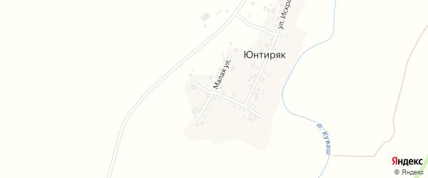 Малая улица на карте деревни Юнтиряка с номерами домов