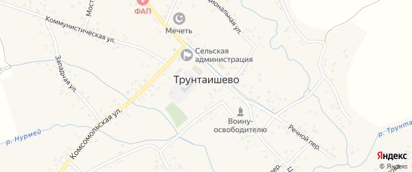 Комсомольская улица на карте села Трунтаишево с номерами домов