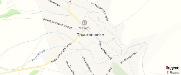 Карта села Трунтаишево в Башкортостане с улицами и номерами домов