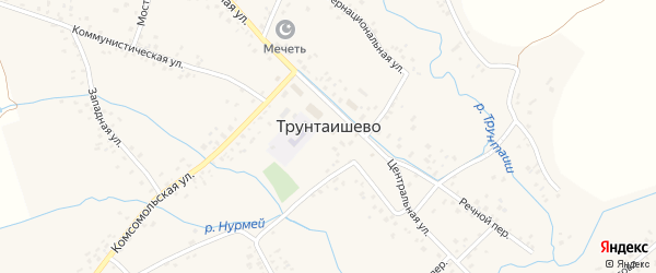 Улица Дружбы на карте села Трунтаишево с номерами домов