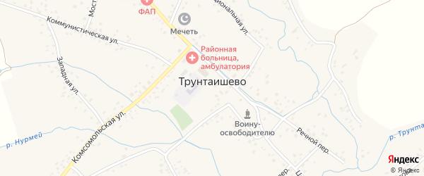 Улица Матросова на карте села Трунтаишево с номерами домов