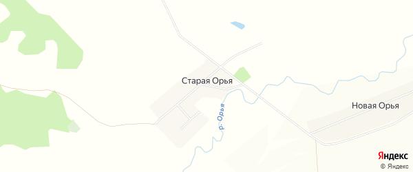 Карта Старой Орьи деревни в Башкортостане с улицами и номерами домов