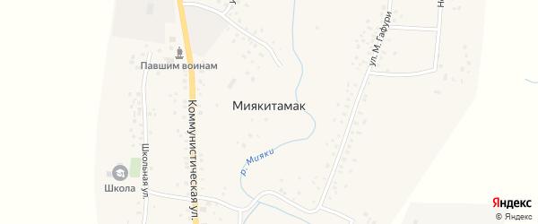 Школьная улица на карте села Миякитамака с номерами домов