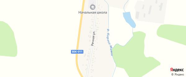 Речная улица на карте деревни Суккула-Михайловки с номерами домов