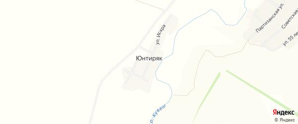 Карта деревни Юнтиряка в Башкортостане с улицами и номерами домов