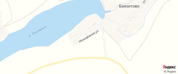 Молодежная улица на карте деревни Баязитово с номерами домов