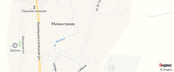 Улица М.Гафури на карте села Миякитамака с номерами домов