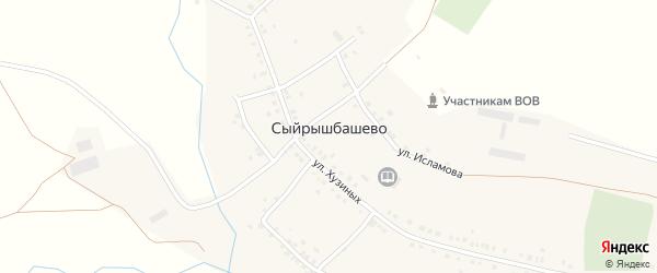 Улица М.Музипова на карте села Сыйрышбашево с номерами домов