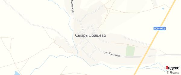 Карта села Сыйрышбашево в Башкортостане с улицами и номерами домов