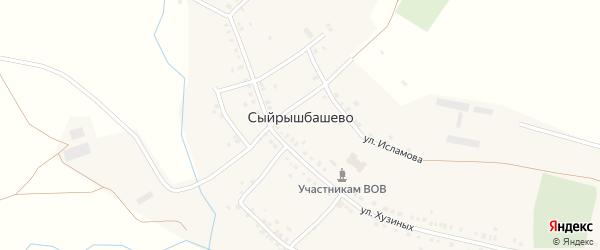 Западная улица на карте села Сыйрышбашево с номерами домов